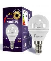 LED лампа Сириус 4W Мягкий свет G45 Е14