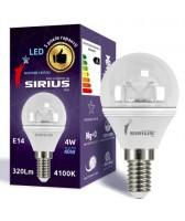 LED лампа Sirius 4W Яркий свет G45 Е14