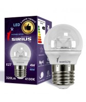 LED лампа Сириус 4W Яркий свет G45 E27