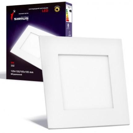 Светильник LED Сириус 6W Яркий свет 120х120/105х105мм Встраиваемый