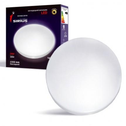 Светильник LED Сириус 24W Яркий свет Ø350 Накладной