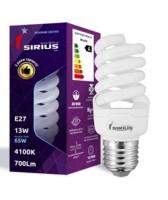 Люминесцентная лампа Sirius 13W Яркий свет Спираль E27