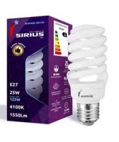 Люминесцентная лампа Sirius 25W Яркий свет Спираль E27