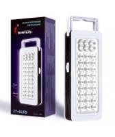 Аккумуляторный LED светильник Сириус 27+6 лампы 700MAH 10ч работы (работает и от батареек)